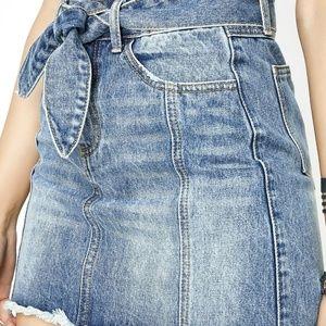 Denin mini skirt